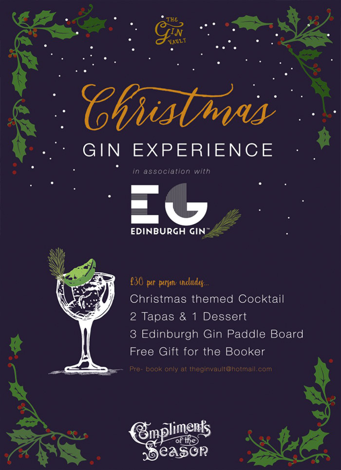 Christmas Cocktails at the Gin Vault
